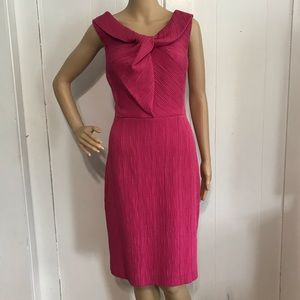 Vintage Pink Textured Work or Cocktail Dress 12